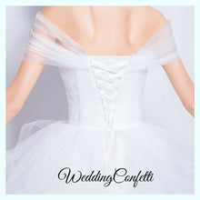 Load image into Gallery viewer, The Roselle Wedding Bridal Off Shoulder Gown - WeddingConfetti