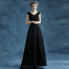 Load image into Gallery viewer, The Lakisha Black Off Shoulder Gown - WeddingConfetti