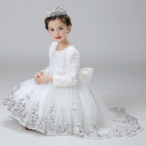 Flower Girl Dress (Long Sleeves) - WeddingConfetti