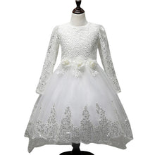 Load image into Gallery viewer, The Janny Flower Girl Dress (Long Sleeves) (Available in 3 colours) - WeddingConfetti