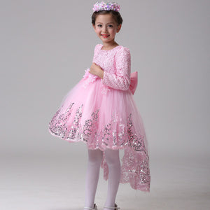 The Janny Flower Girl Dress (Long Sleeves) (Available in 3 colours) - WeddingConfetti