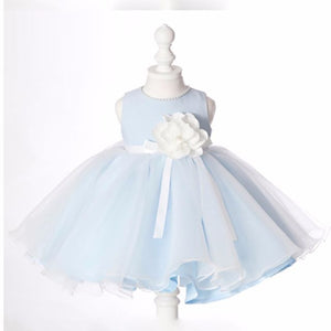 The Lara Blue Flower Girl Dress - WeddingConfetti