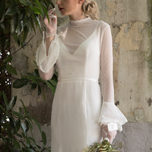 Load image into Gallery viewer, The Willow Bohemian Wedding Long Sleeves Dress - WeddingConfetti