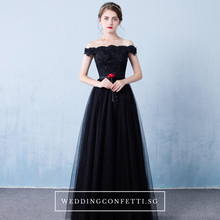 Load image into Gallery viewer, The Cinderina Off Shoulder Dress (Available in 2 colours) - WeddingConfetti