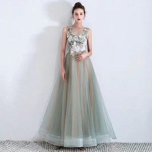 The Zelene Ombre Sleeveless Tulle Gown - WeddingConfetti