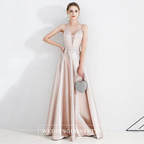 The Irina Sleeveless Pink Gown - WeddingConfetti