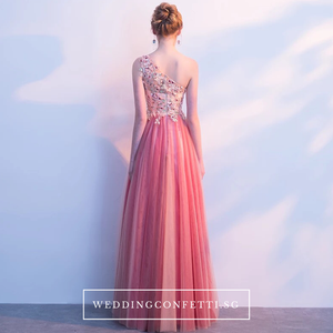 The Cherry Pink One Shoulder Dress - WeddingConfetti