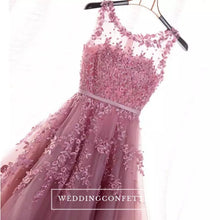 Load image into Gallery viewer, The Rose Pink/Red Lace Sleeveless Dress - WeddingConfetti