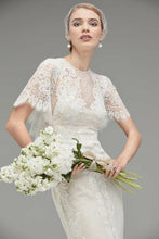Load image into Gallery viewer, The Keranda Wedding Bridal Drape Sleeve Lace Gown - WeddingConfetti