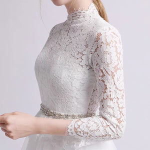 The Krasloe Wedding Bridal Long Sleeves Lace Gown - WeddingConfetti
