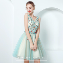 Load image into Gallery viewer, The TinkerBell Turquoise Sleeveless Dress - WeddingConfetti