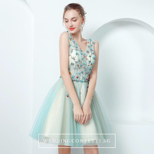 The TinkerBell Turquoise Sleeveless Dress - WeddingConfetti