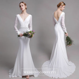 The Yolanda Wedding Bridal Long Sleeve Gown - WeddingConfetti