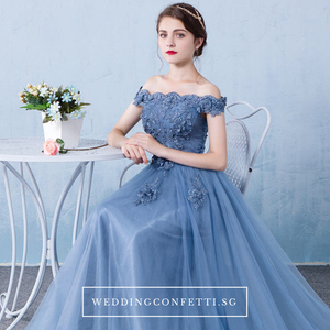 The Cinderina Off Shoulder Dress (Available in 2 colours) - WeddingConfetti
