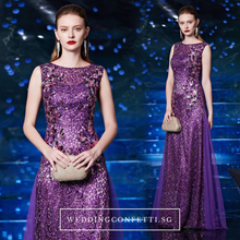 Load image into Gallery viewer, The Bevin Purple Sleeveless Dress - WeddingConfetti