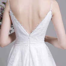 Load image into Gallery viewer, The Kerrelyn Wedding Bridal Sleeveless Lace Dress - WeddingConfetti