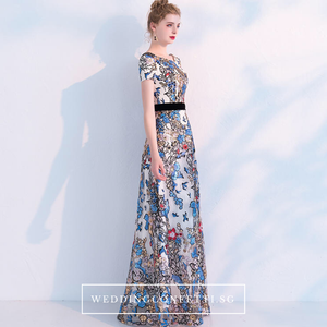 The Heather Floral Short Sleeves Gown - WeddingConfetti
