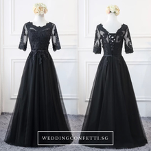 Load image into Gallery viewer, The Krystal Black Lace Wedding Bridal Gown / Dress - WeddingConfetti