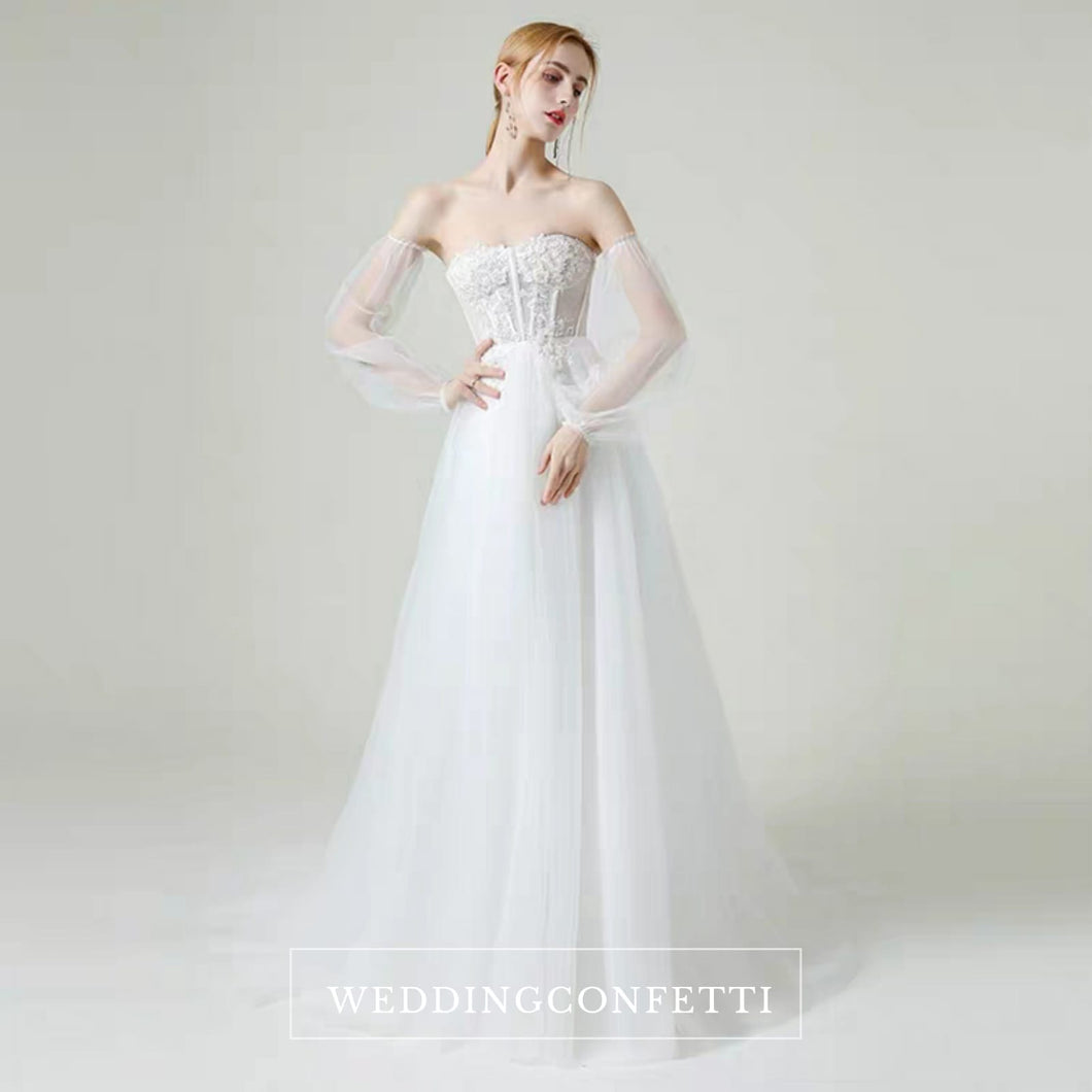 The Lorende Wedding Bridal Tube Tulle Gown - WeddingConfetti