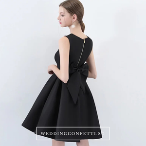 The Amelia Bow White / Black Sleeveless Dress (Available in 2 colours) - WeddingConfetti