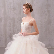 Load image into Gallery viewer, The Jessabelle Wedding Bridal Sleeveless Tulle Gown - WeddingConfetti