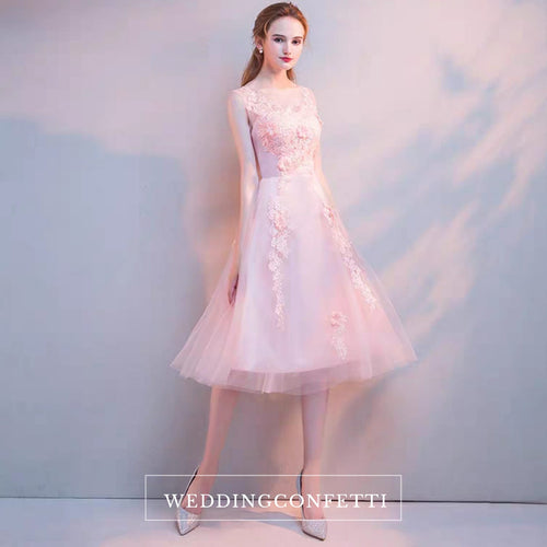 The Riley Pink/Champagne Sleeveless Tulle Gown - WeddingConfetti