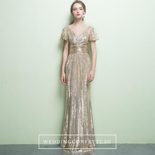 The Benecia Glitter Gown (Available in 4 colours) - WeddingConfetti