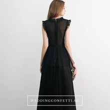Load image into Gallery viewer, The Bethany Black Sleeveless Gown - WeddingConfetti