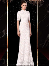 Load image into Gallery viewer, The Orient Wedding Bridal Cheongsam Mandarin Collar Gown - WeddingConfetti