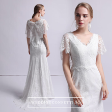 Load image into Gallery viewer, The Melissa Short Sleeves Gown - WeddingConfetti
