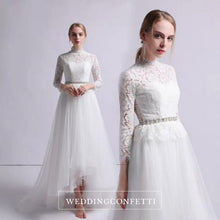 Load image into Gallery viewer, The Krasloe Wedding Bridal Long Sleeves Lace Gown - WeddingConfetti
