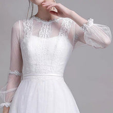 Load image into Gallery viewer, The Yolanda Wedding Bridal Illusion Sleeve Lace Gown - WeddingConfetti