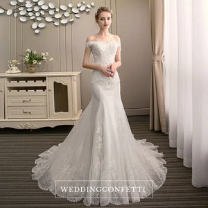 The Triniity Wedding Bridal Off Shoulder Gown - WeddingConfetti