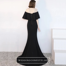Load image into Gallery viewer, The Benecia Black Off Shoulder Gown - WeddingConfetti