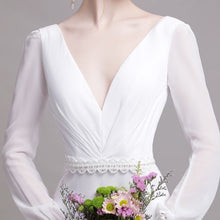 Load image into Gallery viewer, The Yolanda Wedding Bridal Long Sleeve Gown - WeddingConfetti