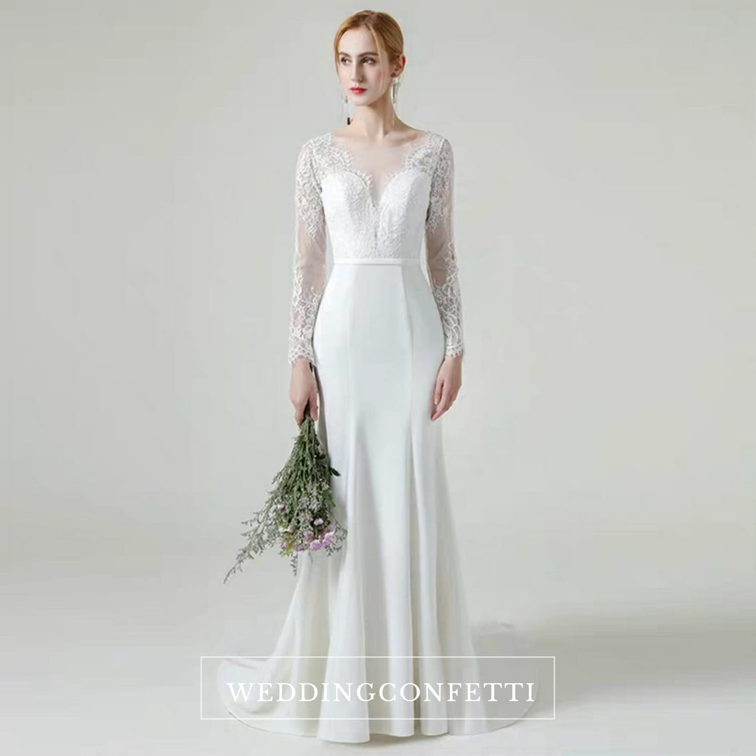 The Gabrielle Wedding Bridal Long Sleeves Lace Gown - WeddingConfetti
