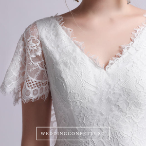 The Melissa Short Sleeves Gown - WeddingConfetti