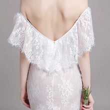 Load image into Gallery viewer, The Winslet Wedding Bridal Off Shoulder Lace Dress - WeddingConfetti