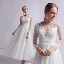 Load image into Gallery viewer, The Petrio Wedding Bridal Illusion Sleeves Lace Gown - WeddingConfetti