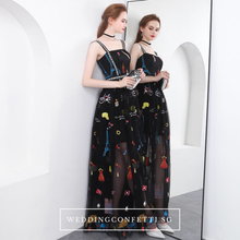 Load image into Gallery viewer, The Amanica Sleeveless Black Dress  - WeddingConfetti