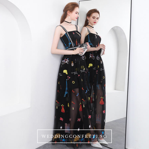 The Amanica Sleeveless Black Dress  - WeddingConfetti