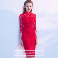 Load image into Gallery viewer, The Cassia Lace Mandarin Collar Dress - WeddingConfetti