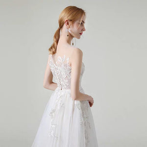 The Kaselly Wedding Bridal Sleeveless Lace Gown - WeddingConfetti