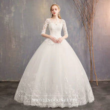 Load image into Gallery viewer, The Quinlee Wedding Bridal Illusion Long Sleeves Gown - WeddingConfetti
