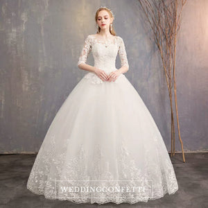The Quinlee Wedding Bridal Illusion Long Sleeves Gown - WeddingConfetti