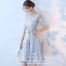 Load image into Gallery viewer, The Jeraldine Grey Long Sleeves Dress - WeddingConfetti