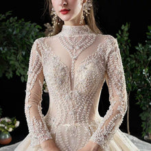 Load image into Gallery viewer, The Brinley Wedding Long Sleeves Champagne Gown - WeddingConfetti