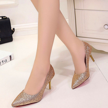 Load image into Gallery viewer, Wedding Bridal Gold / Silver / Violet Wedding Bridal Heels