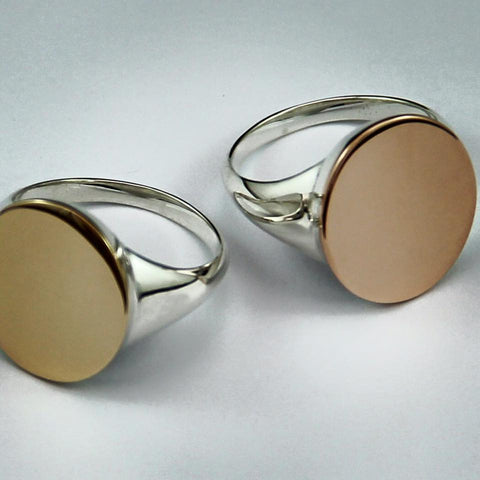 Engraved Signet Rings.