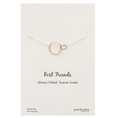 Sterling Silver best friends necklace